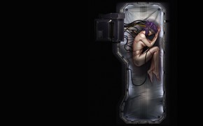 Picture anime, art, Ghost in the shell, Kusanagi, Jarred Everson
