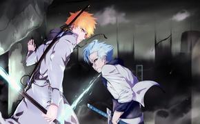 Picture sword, game, Bleach, anime, sword, captain, asian, Kurosaki Ichigo, manga, shinigami, quincy, hollow, Grimmjow, shikai, …