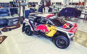 Picture Auto, Machine, Workshop, Speed, Peugeot, Garage, Red Bull, Rally, Dakar, SUV, Rally, Sport, DKR, 3008, …