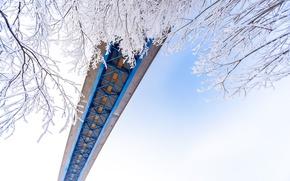 Picture winter, snow, bridge