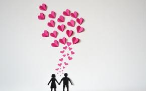 Picture paper, hearts, love, heart, origami, romantic, paper