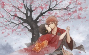 Picture romance, art, pair, two, Hanasaku Manimani
