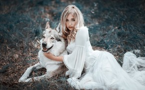 Wallpaper wolf, friends, Cessy We, dress, girl
