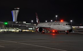 Picture the plane, the airfield, Virgin 42