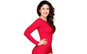 Picture look, face, hair, India, actress, red dress, red lipstick, smile girl, bollywood, In Fact Kapoor