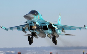 Picture fighter-bomber, Su-34, Sukhoi, Russian multifunctional