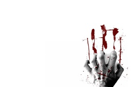 Picture blood, trail, hand, imprint