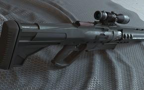 Picture weapons, sight, rifle, weapon, sci-fi, rendering, rifle, scope, futuristic, futuristic