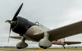 Picture screws, the airfield, Japanese fighter