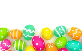 Picture Easter, background, colorful, Easter eggs, Happy Easter, eggs