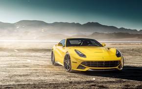Picture design, desert, yellow, The Ferrari F12