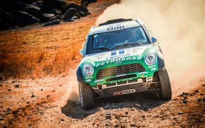 Picture Auto, Mini, Dust, Sport, Green, Machine, Speed, Race, The hood, Lights, Car, Rally, SUV, Rally, …