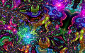 Wallpaper art, color mixture, thoughts, art, bright colors, flashes