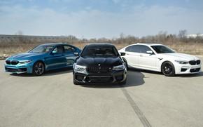 Picture BMW, Blue, Black, White, Trio, F90