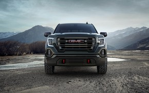 Picture front view, pickup, GMC, Sierra, Crew Cab, AT4, 2019