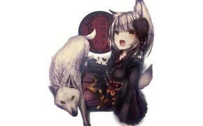 Picture animal, Fox, girl