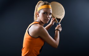 Picture model, tennis, pose