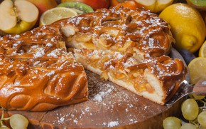 Picture pie, fruit, filling