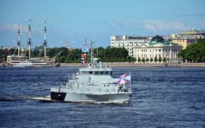Picture holiday, boat, Neva, anti-sabotage, rook