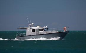 Picture summer, boat, The black sea
