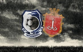 Wallpaper Background, Football, Football Club, Logo, Logo, Chernomorets, Odessa, Black, Coat of arms, Black and blue, ...