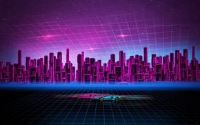 Picture the city, building, cars, Concept art