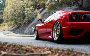 Picture Red, Auto, Machine, 360, Supercar, Modena, Ferrari 360, Dimensions, Suspension, Ferrari Modena 360