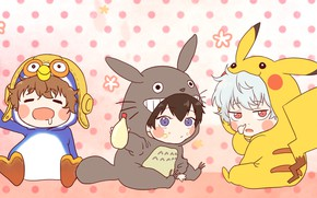 Picture anime, kids, costumes, Gintama