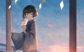 Picture look, anime, mask, girl, mfua. RU