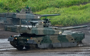 Picture Japan, weapon, asian, tank, oriental, asiatic, Japanese, Type 10, Mitsubishi Heavy Industries, Nippon, Nihon