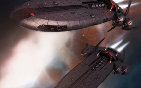 Picture weapons, ship, EVE-Online, Attack, Let Uriel