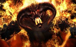 Wallpaper fire, Demon, Lord of Darkness