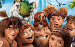 Picture tiger, face, animated film, The Croods, animated movie, family, caveman, tora, The Croods 2