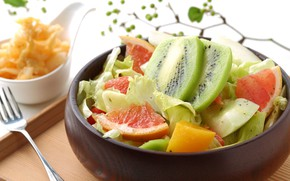 Picture kiwi, citrus, dessert, fruit salad