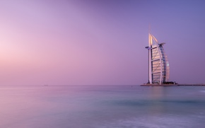 Picture sea, the sky, Dubai, the hotel
