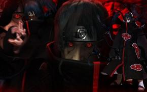 Picture Naruto, crow, Itachi, ninja, hero, Akatsuki, Uchiha, shinobi, Naruto Shippuden, doujutsu, powerful, strong, yuusha, mangekyou …