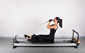 Picture brunette, pilates, wrokout
