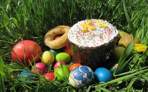 Picture grass, eggs, Easter, April, spring 2018