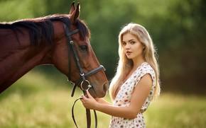 Picture girl, horse, Czech Republic, Milan R, Lucka, Beautiful Lucka, beautiful horse