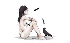 Picture Raven, Death, Sandman, Sandy man