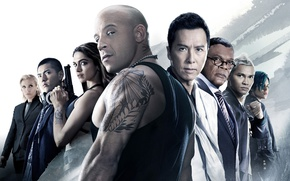 Wallpaper poster, Vin Diesel, Deepika Padukone, Samuel L. Jackson, Toni Collette, Donnie Yen, Ruby Rose, Three ...