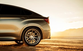 Picture design, wheel, disk, rays of light, BMW X6M