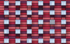 Picture wall, Windows, red facade