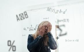 Picture girl, formula, exam