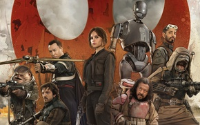 Wallpaper cinema, Star Wars, robot, alien, movie, film, human, rebel, spin-off, Rogue One: A Star Wars ...