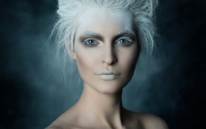 Picture girl, portrait, makeup, styling, retouching, Ice Queen, Michael Schnabl, The Overself Hluchovsky