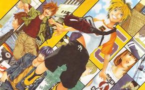 Picture anime, characters, Hikaru no Go, Hikaru and Guo