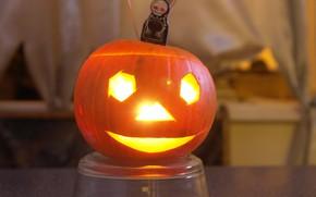 Picture pumpkin, Halloween, pumpkin with eyes