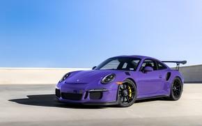 Wallpaper Wheels, GT3RS, Purple, Porsche, Black