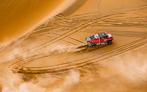 Picture Sand, Red, Sport, Speed, Truck, Race, Renault, Reno, Rally, 301, Silk road, Silk Way, View …
